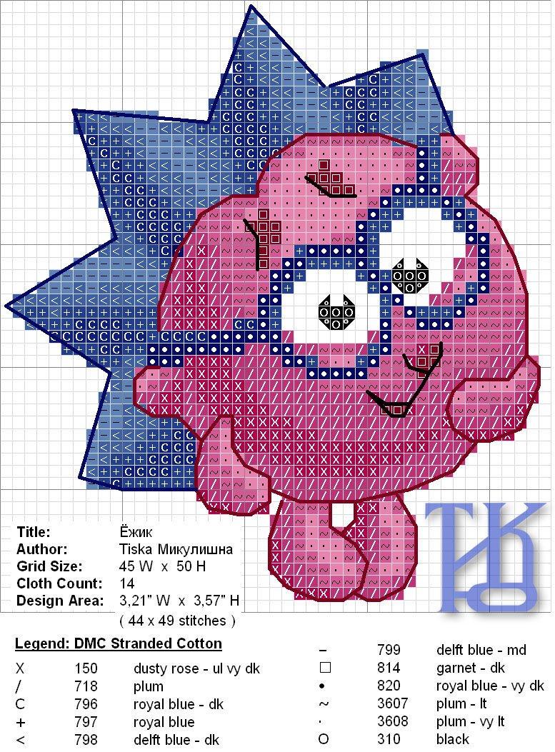 Смешарики схема вышивки крестиком 38
